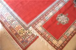 8 x 12 Wool Area Rug from Morrocco w/ matching runner